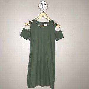 Glitz Cold Shoulder Mini Dress